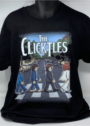 Camiseta Beatles versión Clicks de Playmobil